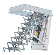 Электрическая чердачная лестница
