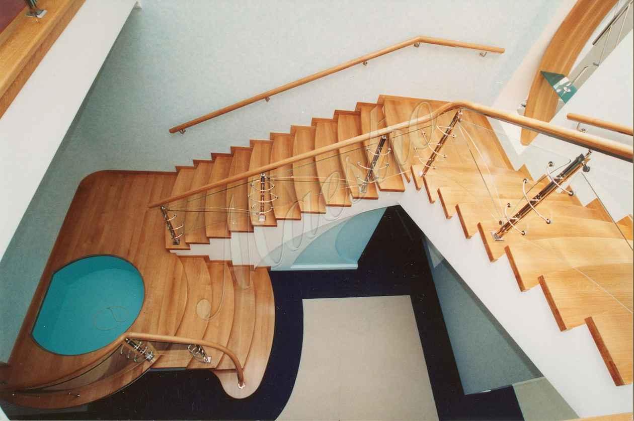 Как сделать лестницу с поручнем