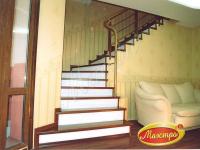 Монолитная лестница с облицовкой